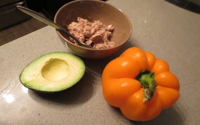 Quick Meal: Tuna & Avocado Stuffed Peppers