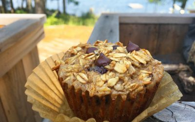 Chocolate Chip Banana Oat Muffins